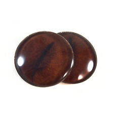 Pair of 30mm Brown Koala Glass Eyes for Jewelry or Taxidermy Doll Making