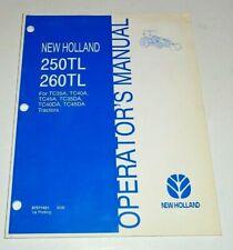 New Holland 250tl 260tl Loader Operators Manual 906 Fits Tc35a Tc45da Tractor