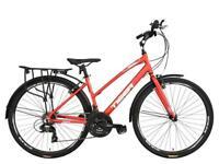 Tiger Ventura Ladies Touring Trekking Hybrid Bike Alloy Frame 700c 21 Speed Red