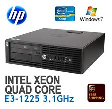HP Z210 SFF Workstation Computer PC E3-1225 3.1 GHz 4 GB 500 GB Windows 7 Pro