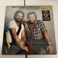 Merle Haggard & George Jones A Taste Of Yesterdays Wine LP - Shrink Wrap Hype