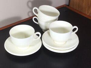4 WEDGEWOOD Edme demitasse coffee tea cup Eturia Barlaston cream made in England