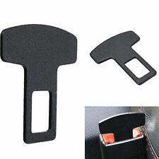 Car Seat Belt Black Aluminum Plug Buckle Alarm Stopper Eliminator Clip Accessory