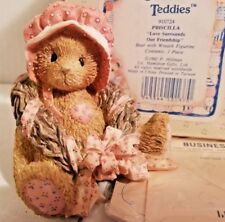 🔥 1992 Nib Enesco Cherished Teddies Priscilla Love Surround Friend Fig 910724