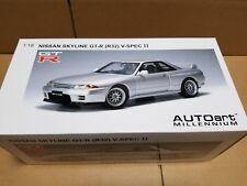 Autoart NISSAN SKYLINE GT-R (R32) V-SPECⅡ SPARK SILVER 77346 1/18