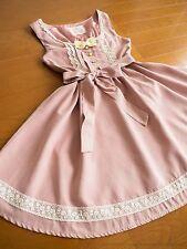 Wonder Rocket Satin Ribbon Lace-up JSK Jumper Dress Sweet Lolita Kawaii Japan