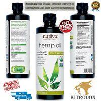 100%Pure Premium Organic Hemp Oil Therapeutic Grade Pain Stress Relief 24 Ounce