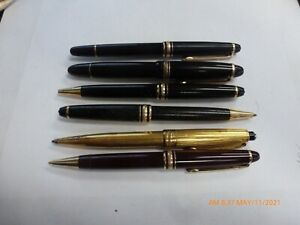 Lot Of Six Montblanc Pens For Parts Or Restoration