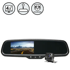"Dodge G-Series Rear View Camera With 4.3"" TFT LCD Replacement Rear View Mirror"