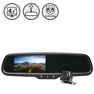 """Dodge G-Series Rear View Camera With 4.3"""" TFT LCD Replacement Rear View Mirror"""