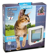 Karlie - Katzenklappe 4-way große Katze Mechanisch Katze x23.5cmx25.2cm weiss
