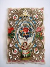1870's Antique Valentine Card w/ 8 Die Cuts - Front Page of Card Only*