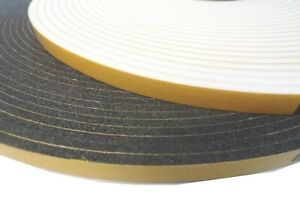 Glazing double sided foam tape. Security tape. PVC. Black or White. Full rolls..