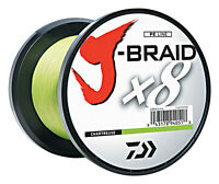 Daiwa J-Braid X8 Braided Fishing Line - 1650 Yards (1500 M) Chartreuse Line
