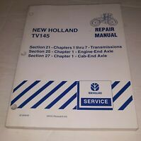 New Holland TV145 Tractor Repair Service Manual Section 21 25 27 Free Shipping