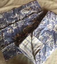 HTF RALPH LAUREN HOME Floral FRENCH BLUE 3PC FULL/QUEEN DUVET SET