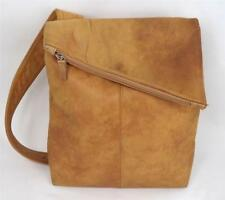 VINTAGE DERRICI BROWN TAN ITALIAN LEATHER SHOULDER BAG HANDBAG