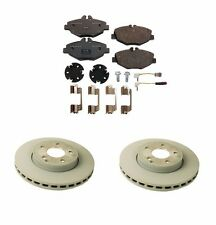 Mercedes W211 E350 Set of 2 Front Disc Brake Rotors and Front Brake Pad Genuine