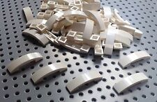 Lego White 1x4x2/3 Curved Slope Brick (93273) x10 *BRAND NEW* City Star Wars
