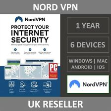 NordVPN Internet Privacy & Security VPN Software - 6 Devices - 1 Year - Download