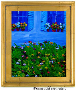 Window with Flowers Natasha Petrosova Original  Painting Impressionism 264