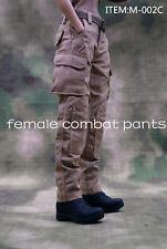 1/6 Female Combat Pants M-002C Khaki Trousers F 12'' Female Figure