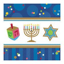Large Pack of 36 Hanukkah Paper Napkins - Bulk Hanukkah Party Supplies 33cm