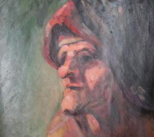 Portrait vintage oil painting