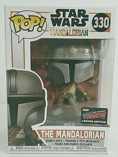 Funko Pop Star Wars The Mandalorian #330 NYCC Sticker Hard Protector Mint