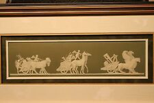Rare Antique Wedgwood Green Jasper Ware Triumph of Cybele Framed Plaque (c.1800)