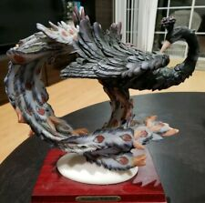 Montefiori Collection Pruning Peacock Handcrafted Resin Artist Signed Figure
