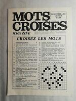 N58 mots croisés magazine N°656 hebdomadaire 31 mars 1977 imprimée en France