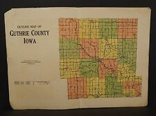 Iowa Guthrie County Map  1928 Double Page  W10#93