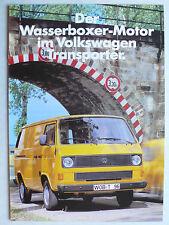 Prospekt Volkswagen VW Transporter - der Wasserboxer-Motor, 10.1982, 8 Seiten