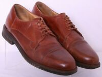 Cable & Co. 4784 Brown Leather Cap Toe Lace-Up Oxfords Shoes Men's US 10.5D
