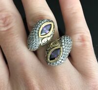 Turkish Handmade Jewelry Sterling Silver 925 Amethyst Ring Size adjustable