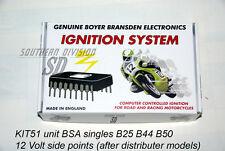 BSA single unit elektr. Zündung Boyer ignition unit B25 B44 B50 12V sidepoints