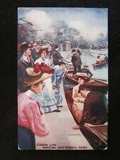 London Life Postcard:  Boating Battersea Park (Raphael Tuck)