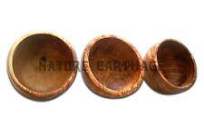 Cadeau Maman Lot de 3 bols en bois d'olivier 12 cm | SET OF 3 OLIVE WOOD BOWLS