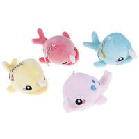 Cartoon Whale Stuffed Key chain Plush Toys Bags Phone Keyring Pendant Decor H·