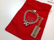 """NWT Uno de 50 Silvertone Chain Bracelet w/ Man/Woman Symbols 6.5"""" $109"""