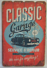 60cm New Rustic Wooden Classic Garage Sign Service & Repair for Man Cave or Bar