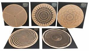 Simply Analog Plattentellerauflage aus Kork mit Druck - Vinyl - LP - Zubehör