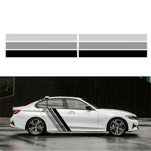 Car Side Door Body Decal Stripes Sticker Tricolor Lines Racing Decals Graphics