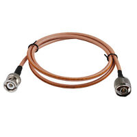 Coax Cable RG142 N MALE PLUG to BNC MALE Coaxial RF Pigtail Cable 1 FT ~ 15 FT