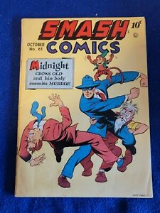 SMASH COMICS #61 Midnight/Lady Luck, VG Cond. Jack Cole-c, QUALITY COMICS (1945)
