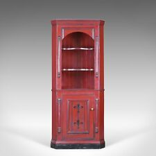 Vintage Corner Cabinet, Late 20th Century, Painted, Pine Cupboard