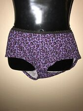 Fruit Of The Loom Purple Black Leopard Boyshort Sissy Underwear Size Plus 9/2X