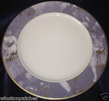 """ROSENTHAL CONTINENTAL R2748 12 1/8"""" SERVICE PLATE CHARGER GREY RIM EPOQUE"""