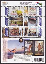 Nederland V2658-2663a Grenzeloos Brazilie  2009  postfris/mnh